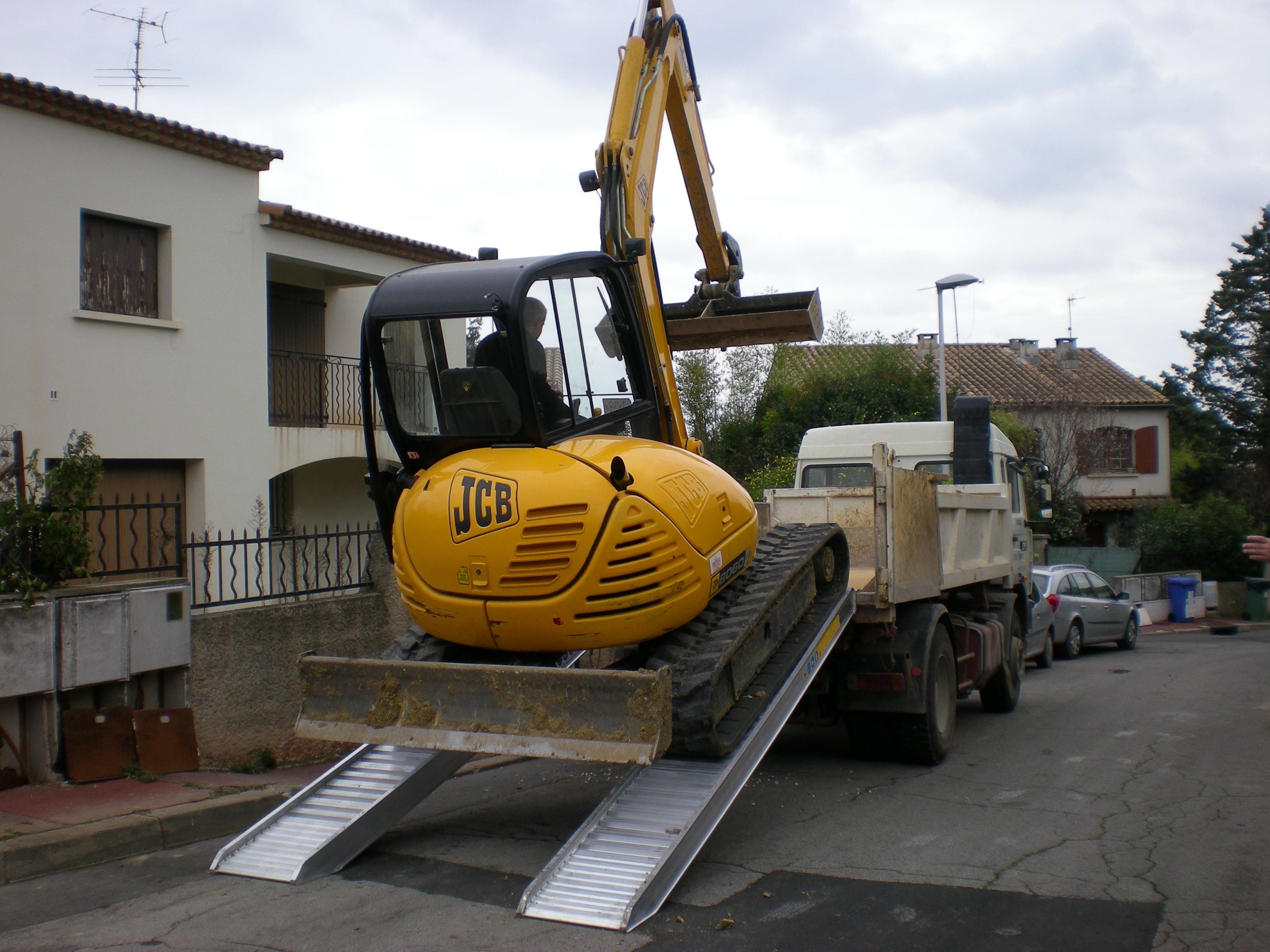 Plant & Vehicle Ramp 4500mm Long, 5300Kg Capacity, 500mm Wide