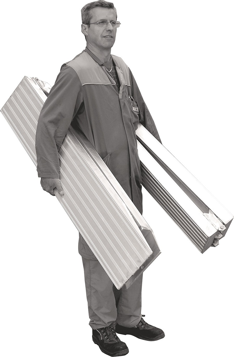 Garden and Motorbike Folding Ramps 2500mm Long, 800Kg Capacity, 250mm Wide