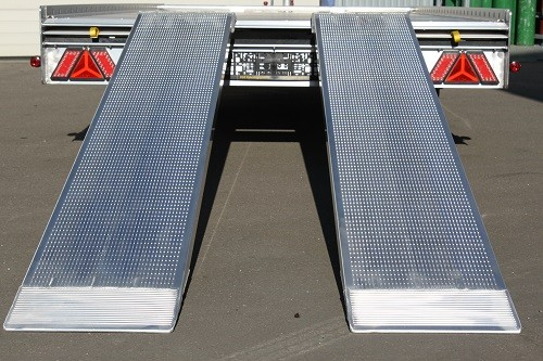 Single Slimtec Loading Ramps,  Length 1800mm Width 210mm  Without Curbs Capacity 500kg
